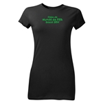 2014 FIFA World Cup Brazil(TM) Junior Women's Portuguese Logotype T-Shirt (Black)
