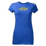2014 FIFA World Cup Brazil(TM) Junior Women's Portugese Logotype T-Shirt (Royal)