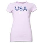 USA 2014 FIFA World Cup Brazil(TM) Junior Women's Elements T-Shirt (Pink)