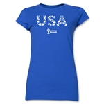 USA 2014 FIFA World Cup Brazil(TM) Junior Women's Elements T-Shirt (Royal)