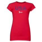 USA 2014 FIFA World Cup Brazil(TM) Junior Women's Elements T-Shirt (Red)