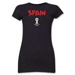 Spain 2014 FIFA World Cup Brazil(TM) Junior Women's Core T-Shirt (Black)
