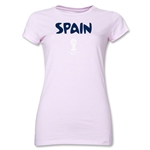 Spain 2014 FIFA World Cup Brazil(TM) Junior Women's Core T-Shirt (Pink)