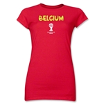 Belgium 2014 FIFA World Cup Brazil(TM) Junior Women's Core T-Shirt (Red)