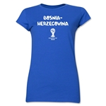 Bosnia-Herzegovina 2014 FIFA World Cup Brazil(TM) Junior Women's Core T-Shirt (Royal)