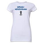 Bosnia-Herzegovina 2014 FIFA World Cup Brazil(TM) Junior Women's Core T-Shirt (White)