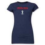 Costa Rica 2014 FIFA World Cup Brazil(TM) Jr. Women's Core T-Shirt (Navy)