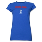 Costa Rica 2014 FIFA World Cup Brazil(TM) Jr. Women's Core T-Shirt (Royal)