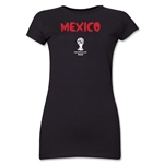 Mexico 2014 FIFA World Cup Brazil(TM) Junior Women's Core T-Shirt (Black)