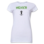 Mexico 2014 FIFA World Cup Brazil(TM) Junior Women's Core T-Shirt (White)