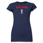 England 2014 FIFA World Cup Brazil(TM) Jr. Women's Core T-Shirt (Navy)