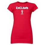 England 2014 FIFA World Cup Brazil(TM) Jr. Women's Core T-Shirt (Red)