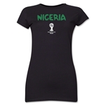 Nigeria 2014 FIFA World Cup Brazil(TM) Jr. Women's Core T-Shirt (Black)
