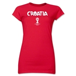 Croatia 2014 FIFA World Cup Brazil(TM) Jr. Women's Core T-Shirt (Red)