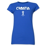 Croatia 2014 FIFA World Cup Brazil(TM) Jr. Women's Core T-Shirt (Royal)
