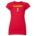Cameroon 2014 FIFA World Cup Brazil(TM) Jr. Women's Core T-Shirt (Red)