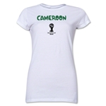 Cameroon 2014 FIFA World Cup Brazil(TM) Jr. Women's Core T-Shirt (Royal)