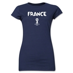 France 2014 FIFA World Cup Brazil(TM) Jr. Women's Core T-Shirt (Navy)