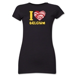 I Heart Belgium 2014 FIFA World Cup Brazil(TM) Jr. Women's T-Shirt (Black)