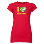 I Heart Cameroon 2014 FIFA World Cup Brazil(TM) Jr. Women's T-Shirt (Red)