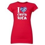 I Heart Costa Rica 2014 FIFA World Cup Brazil(TM) Jr. Women's T-Shirt (Red)
