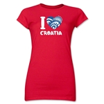 I Heart Croatia 2014 FIFA World Cup Brazil(TM) Jr. Women's T-Shirt (Red)