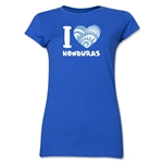 I Heart Honduras 2014 FIFA World Cup Brazil(TM) Jr. Women's T-Shirt (Royal)