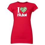 I Heart Iran 2014 FIFA World Cup Brazil(TM) Jr. Women's T-Shirt (Red)