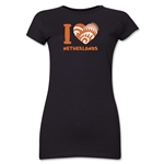 I Heart Netherlands 2014 FIFA World Cup Brazil(TM) Jr. Women's T-Shirt (Black)