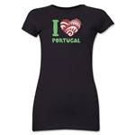 I Heart Portugal 2014 FIFA World Cup Brazil(TM) Jr. Women's T-Shirt (Black)