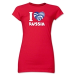 I Heart Russia 2014 FIFA World Cup Brazil(TM) Jr. Women's T-Shirt (Red)