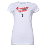 Germany 2014 FIFA World Cup Brazil(TM) Jr. Women's Champions T-Shirt (White)