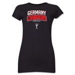 Germany 2014 FIFA World Cup Brazil(TM) Jr. Women's Champions Logotype T-Shirt (Black)