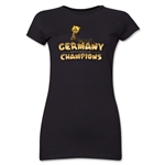 Germany 2014 FIFA World Cup Brazil(TM) Jr. Women's Champions Trophy T-Shirt (Black)