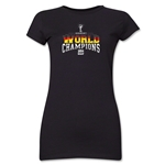 Germany 2014 FIFA World Cup Brazil(TM) Jr. Women's World Champions T-Shirt (Black)