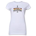 Germany 2014 FIFA World Cup Brazil(TM) Jr. Women's World Champions T-Shirt (White)