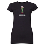FIFA Club World Cup Morocco 2013 Junior Women's Official Emblem T-Shirt (Black)