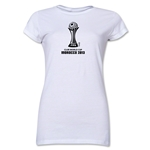 FIFA Club World Cup Morocco 2013 Junior Women's Official Emblem T-Shirt (White)
