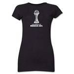 FIFA Club World Cup Morocco 2014 Junior Women's Official Emblem T-Shirt (Black)