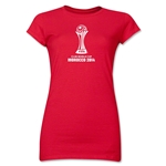 FIFA Club World Cup Morocco 2014 Junior Women's Official Emblem T-Shirt (Red)