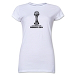 FIFA Club World Cup Morocco 2014 Junior Women's Official Emblem T-Shirt (White)