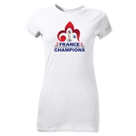 France FIFA U-20 World Cup 2013 Winners Junior Women's T-Shirt (White)