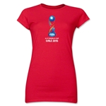 FIFA U-17 World Cup Chile 2015 Core Junior Women's T-Shirt (Red)