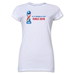 FIFA U-17 World Cup Chile 2015 Landscape Junior Women's T-Shirt (White)