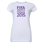 FIFA Women's World Cup Canada 2015(TM).Junior Women's T-Shirt (White)