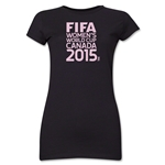 FIFA Women's World Cup Canada 2015(TM).Junior Women's T-Shirt (Black)