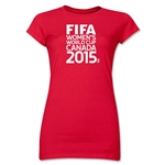 FIFA Women's World Cup Canada 2015(TM).Junior Women's T-Shirt (Red)