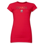 Canada FIFA Women's World Cup Canada 2015(TM) Junior Women's T-Shirt (Red)