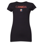 Canada FIFA Women's World Cup Canada 2015(TM) Junior Women's T-Shirt (Black)