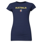 Australia FIFA Women's World Cup Canada 2015(TM) Junior Women's T-Shirt (Navy)